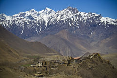 Mountain View en Himalaya Photos libres de droits