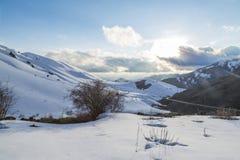 Mountain View en la provincia de Erzurum cerca de Narman, Erzurum foto de archivo libre de regalías