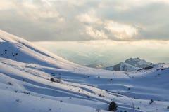 Mountain View en la provincia de Erzurum cerca de Narman, Erzurum fotografía de archivo libre de regalías