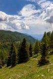 Mountain View en las montañas foto de archivo