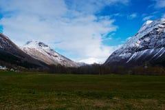 Mountain View en Noruega Fotos de archivo libres de regalías