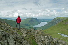 Mountain View English Lake District Stock Image