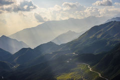 Mountain view. Enroute from Sapa Vietnam Stock Photography
