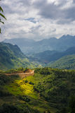 Mountain view. Enroute from Sapa Vietnam Royalty Free Stock Image