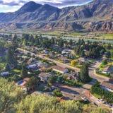Mountain View escénico de Kamloops céntrico imagen de archivo libre de regalías