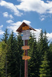 Mountain View et trekking de Karkonosze photographie stock libre de droits