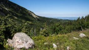 Mountain View et trekking de Karkonosze photos libres de droits