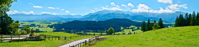 Mountain view europe stock images