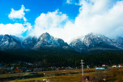 Mountain view. The view of the forest Royalty Free Stock Photography