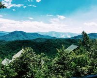 Mountain View fumoso del Tennessee Immagini Stock Libere da Diritti