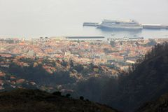 Mountain view of Funchal royalty free stock image