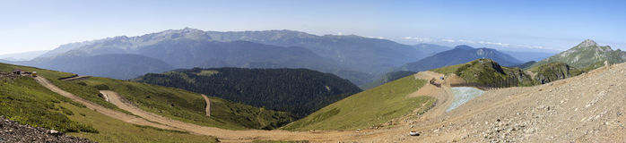 Mountain view Gagra Range. Stock Images