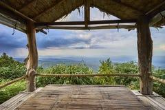Mountain view through Gazebo Royalty Free Stock Image