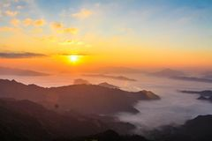 Mountain View Golden Hour Photography Royalty Free Stock Photography