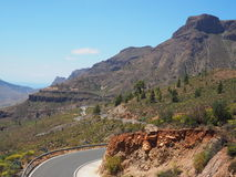 Mountain view in Gran Canaria Royalty Free Stock Image