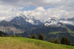 Mountain View hermoso en tiempo de primavera Fotografía de archivo