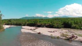 Mountain View hermosos del top almacen de metraje de vídeo