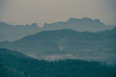 Mountain view on hilltop Stock Photo