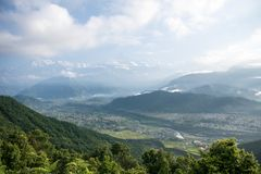 Mountain View Himalaia imagem de stock