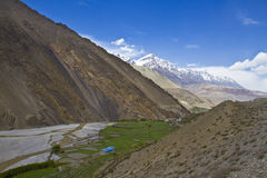 Mountain view in Himalayas Stock Images