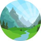 Mountain View-Hintergrund Lizenzfreie Stockbilder