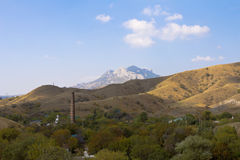 Mountain view and homes from the top.Crimea Stock Photography