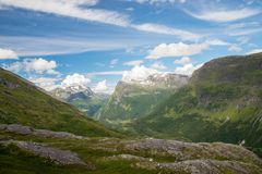 Mountain View i Norge arkivbild