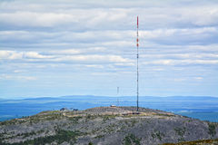 Mountain view II. Mountain landscape in Lapland Finland Royalty Free Stock Photos