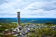 Mountain view III. Mountain landscape in Lapland Finland Royalty Free Stock Images
