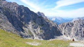 Mountain View Innsbruck Oostenrijk Stock Fotografie