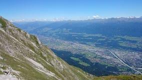 Mountain View Innsbruck Oostenrijk Royalty-vrije Stock Afbeeldingen