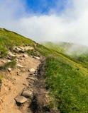 Mountain View - intermountain Überfahrt in der Transcarpathian Region (Ukraine) Stockfotografie