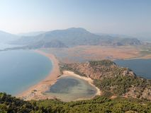 Mountain view of Itzuzu Beach and Delta, Turkey Stock Image
