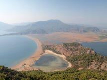 Mountain view of Itzuzu Beach and Delta, Turkey Stock Image