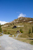 Mountain View Kasereck bij de Hoge Alpiene Weg Carinthia Oostenrijk van Grossglockner Royalty-vrije Stock Afbeelding