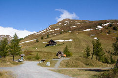Mountain View Kasereck na estrada alpina alta Carinthia Áustria de Grossglockner Imagem de Stock Royalty Free
