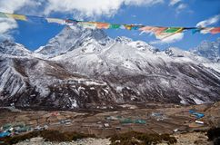 Mountain view from Khumbu valley, Nepal Royalty Free Stock Photos