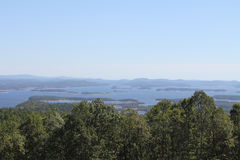 Mountain View. With Lake in distance stock image