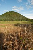 Mountain view from Lamphun, Thailand.  Royalty Free Stock Photos
