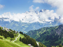 Mountain view landscape in the Alps France Royalty Free Stock Image