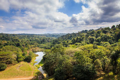 Mountain view landscape and lake in deep forest, Thailand Royalty Free Stock Photos