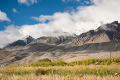 Mountain view of leh ladakh india Stock Image