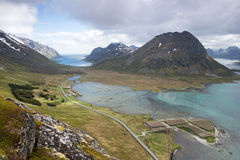 Mountain View - Lofoten Islands, Norway Royalty Free Stock Photos