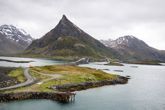 Mountain View - Lofoten Islands, Norway Royalty Free Stock Photo
