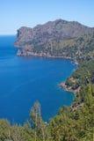 Mountain View Mallorca do Seascape Fotografia de Stock