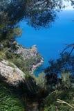 Mountain View Mallorca do Seascape Fotos de Stock