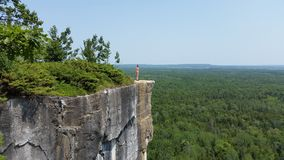 Mountain view. Manitoulin island. Cup and Saucer trail Royalty Free Stock Image