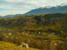 Mountain view moeciu valley Royalty Free Stock Photo