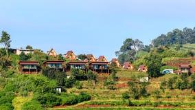 Mountain View morgens am chaingmai Thailand Lizenzfreie Stockfotos
