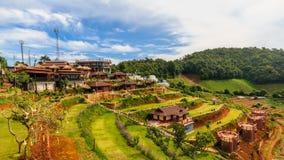 Mountain View morgens am chaingmai Thailand Lizenzfreies Stockfoto